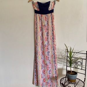 BCBGeneration strapless colorful maxi dress